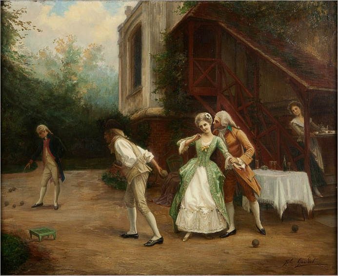 Jules GIRARDET (1856-1946), The Winning Party