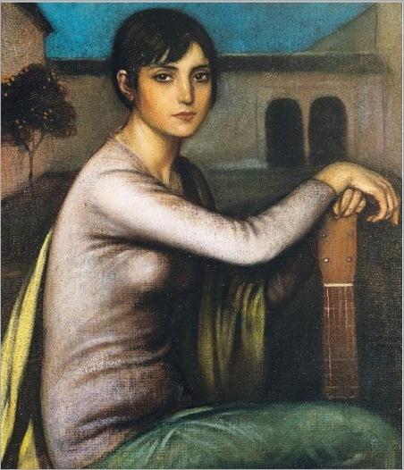 Julio Romero de Torres (1879-1930) Tristeza Andaluza (Melancholy)