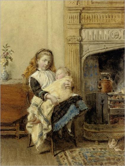 Kilburne_George_Goodwin_Minding_Baby_1896