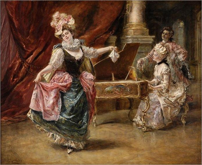 Leon Eduardo Garrido- Die Tanzvorführung 1906
