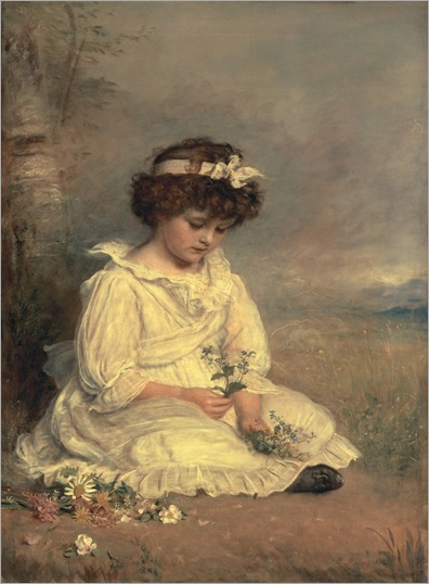 Little Speedwell's Darling Blue - 1892 - John Everett Millais (pre-raphaelite painter)