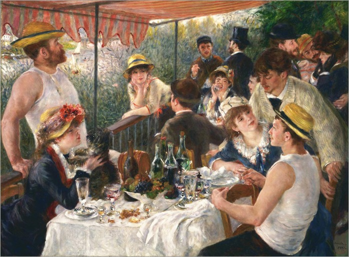 Luncheon of the Boating Party - Pierre-Auguste Renoir-1881