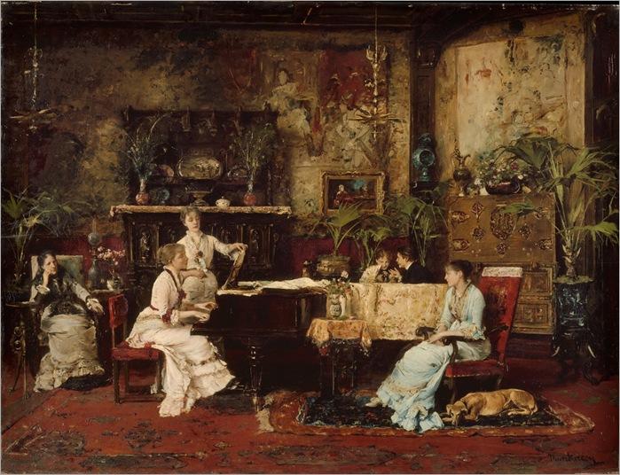 Mihály de Munkácsy - The Music Room -1878