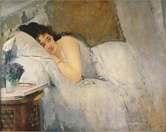 Morning Awakening - Eva Gonzalez-1876