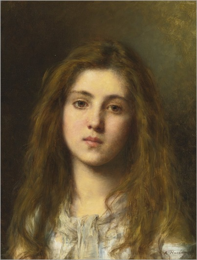 PORTRAIT OF A YOUNG GIRL-Alexei Harlamoff