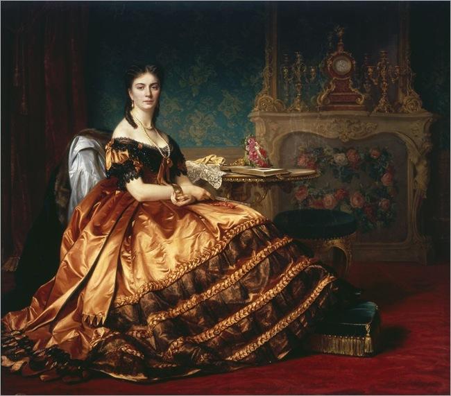 Portrait of Emilia Włodkowska by Józef Simmler(1823-1868)