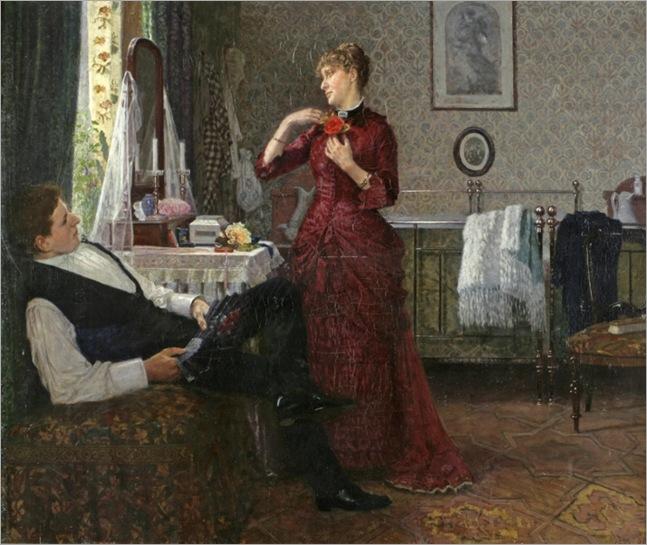 Preparing for the ball, 1880-Anton-Thiele-(Danish, 1838-1902)_712x600