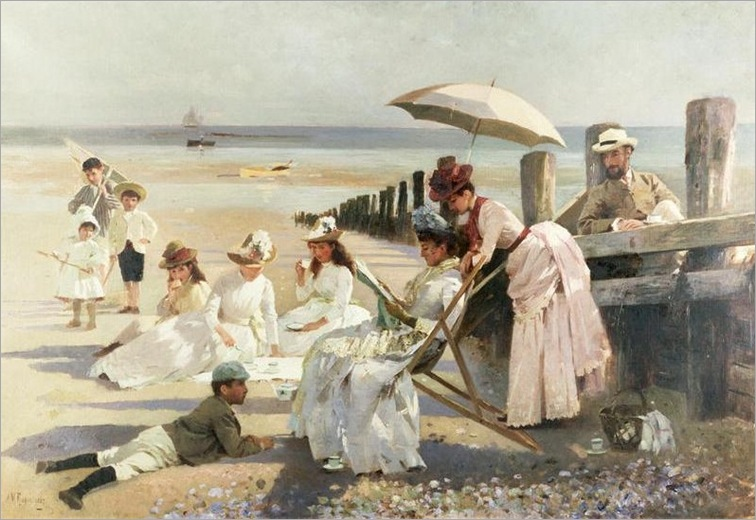 Shores of Bognor Regis by Alexander Mann (1853-1908)