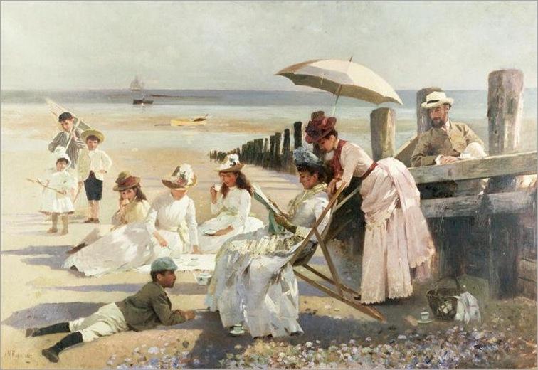 Shores of Bognor Regis by Alexander Mann (1853-1908)