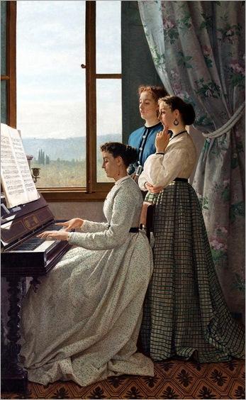 Silvestro Lega (1826-1895)-cantando canções 1868