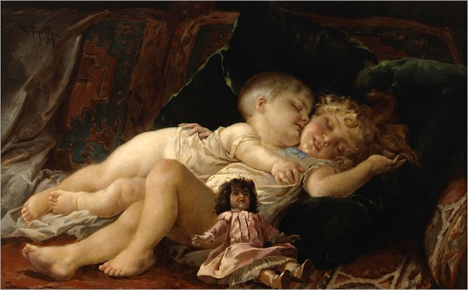 sleeping-playmates-Virgilio Tojetti