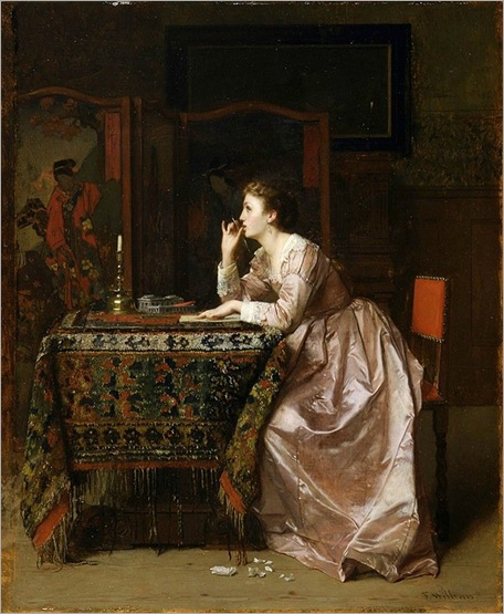 The love letter  Florent Willems  1840