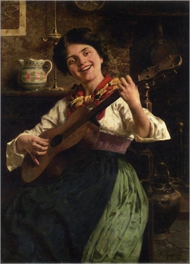 the-serenade-Eugenio_Zampighi