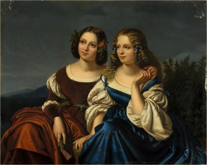 Two Young Ladies in a Landscape - Carl Begas