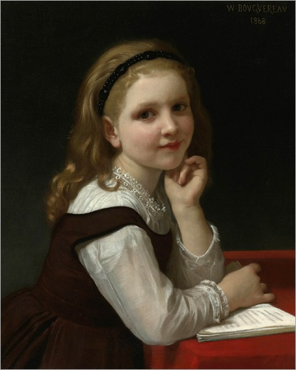William-Adolphe Bouguereau _Distraction- 1868