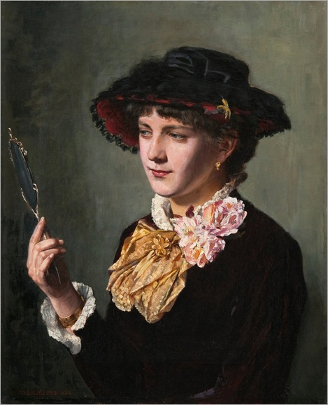 Woman with a Mirror - Arvid Liljelund_1882