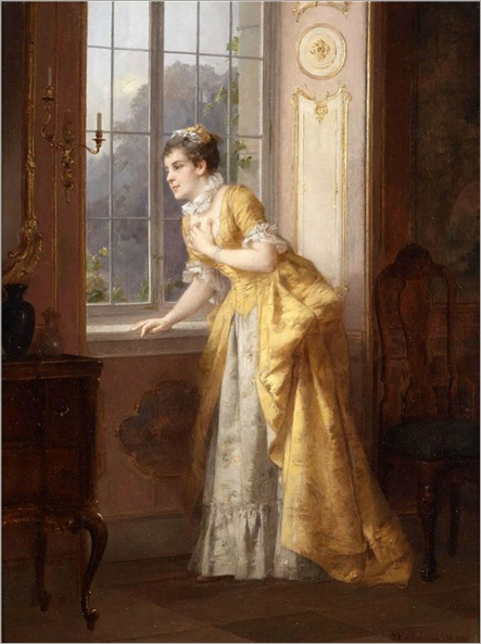 Young Lady at the Window - Otto Erdmann