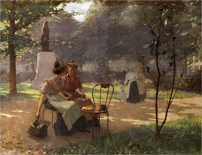 Young Women in the Park - 1903- Albert Creswell (french)
