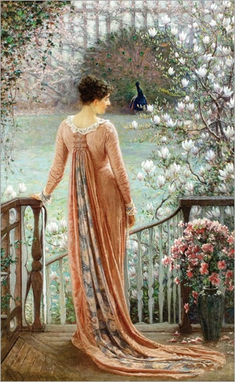 A Spring Fantasy -1880- William John Hennessy (irish painter)