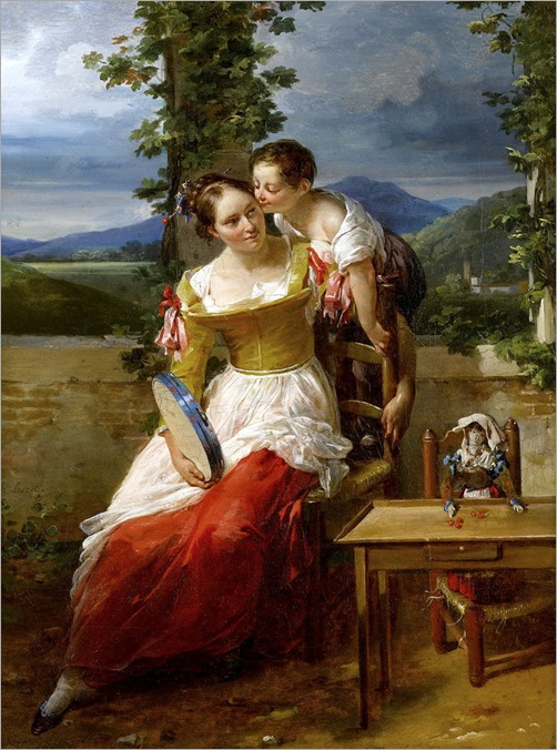 Antoinette-Cеcile-Hortense Houdebourt-Lescot (French, 1784-1845) - Mother and child