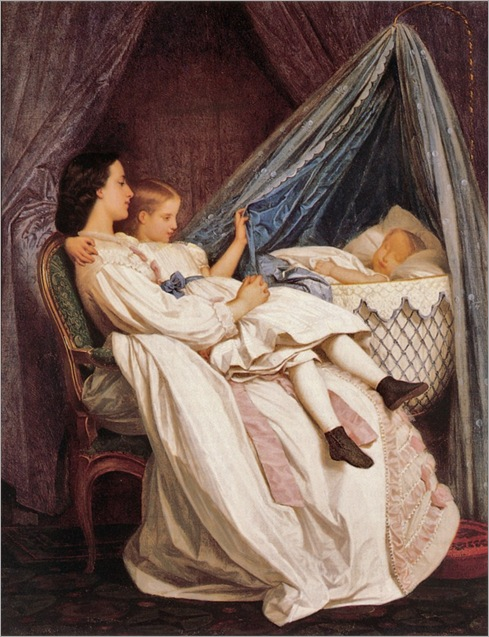 Auguste Toulmouche (French artist, 1829-1890) The New Arrival 1877 (2)