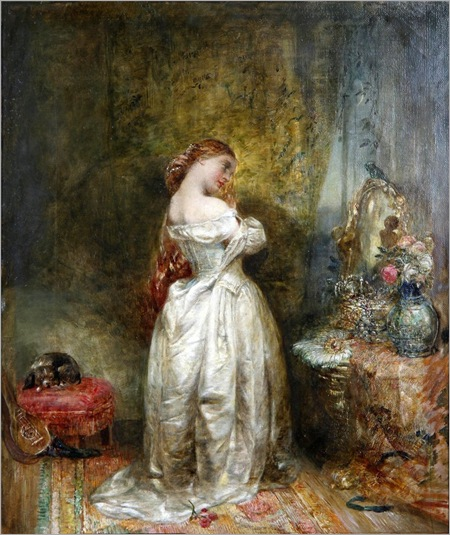 before-the-ball-by-Alfred Joseph Woolmer (1805-1892)