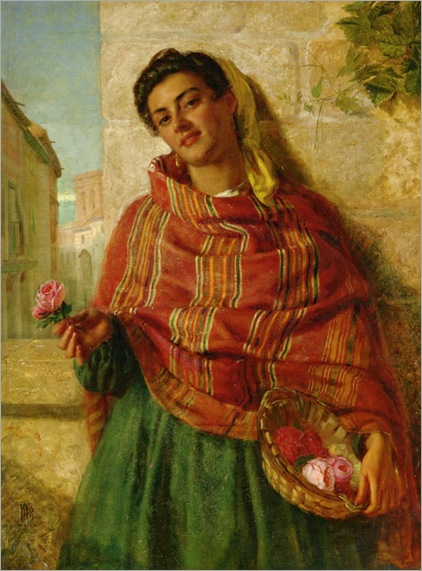 Burgess_John_Bagnold_A_Young_Beauty_Holding_a_Rose (2)