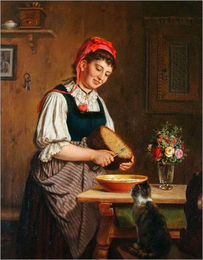 Carl Hetz (German, 1828-1899) - Preparing the meal