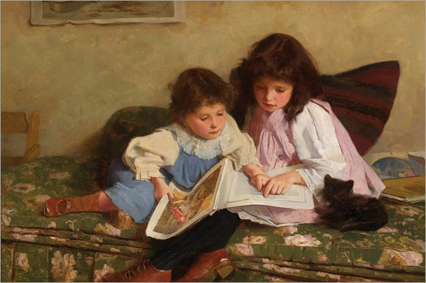 Carlton Alfred Smith (English, 1853-1946)- The Young Readers 1893