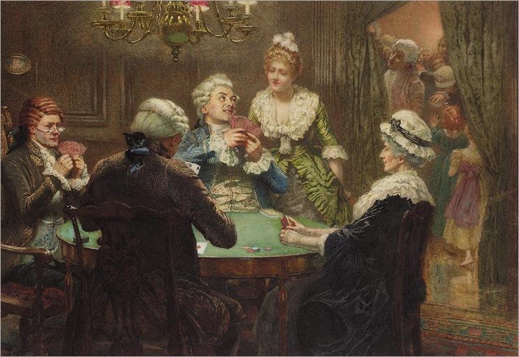 Edward Frederick Brewtnall (1846 - 1902) - The whist party