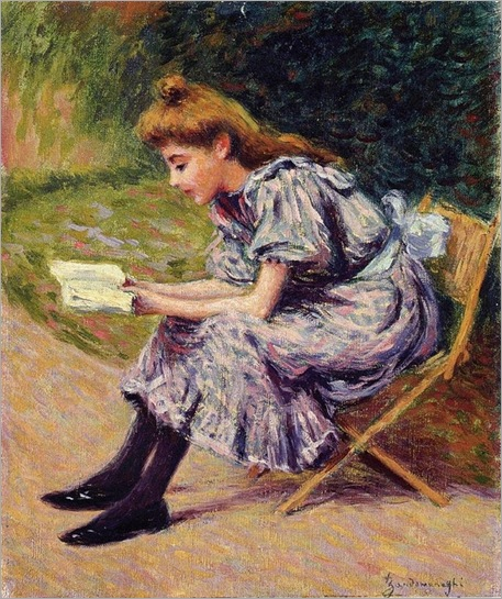 Federico Zandomeneghi (italian painter)- The Reader