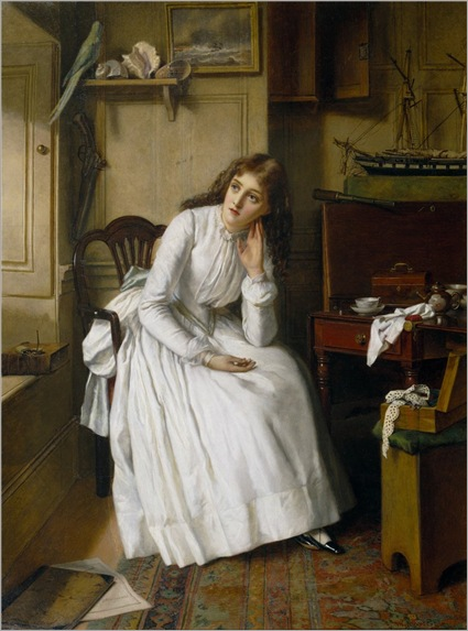 Florence Dombey in Captain Cuttle's Parlour-William Maw Egley