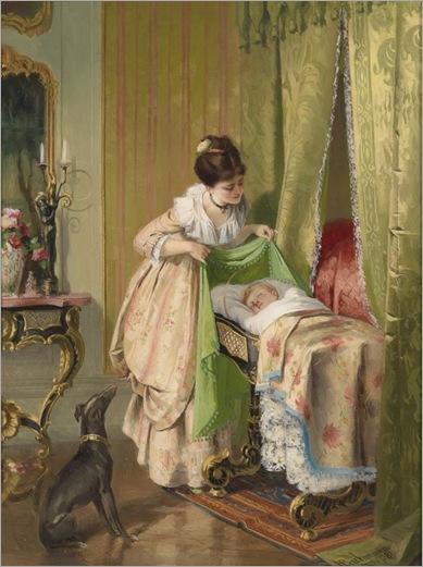 HANS_BACHMANN-(Winikon-Lucerne 1852-1917) Loving Mother_597x800