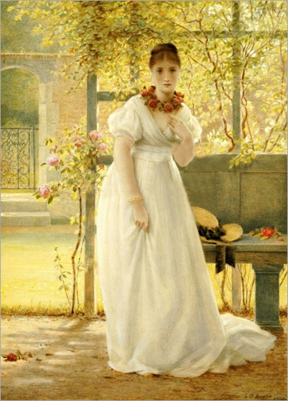 In the Walled Garden-George Dunlop Leslie