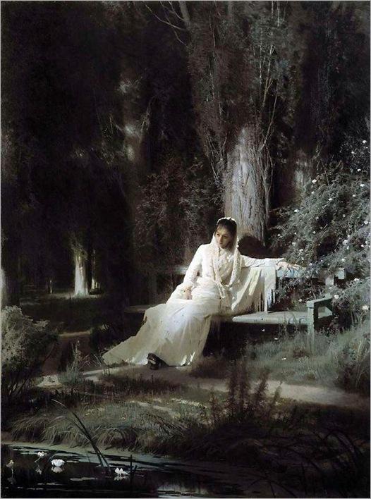 Moonlight Night -1880- Ivan Kramskoy (russian painter)