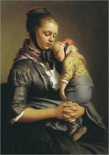 Mother and Child - Gerhard Wilhelm von Reutern