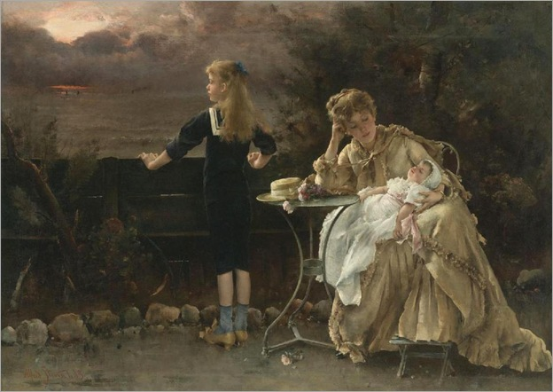 Mother and Children - Alfred Stevens-1887