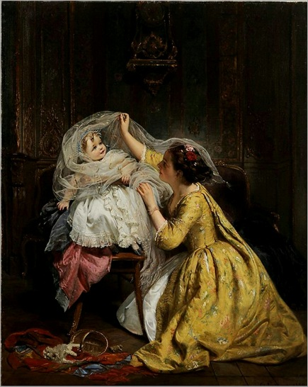Mother Playing With Child, 1859-by-Henry-Guillaume-Schlesinger
