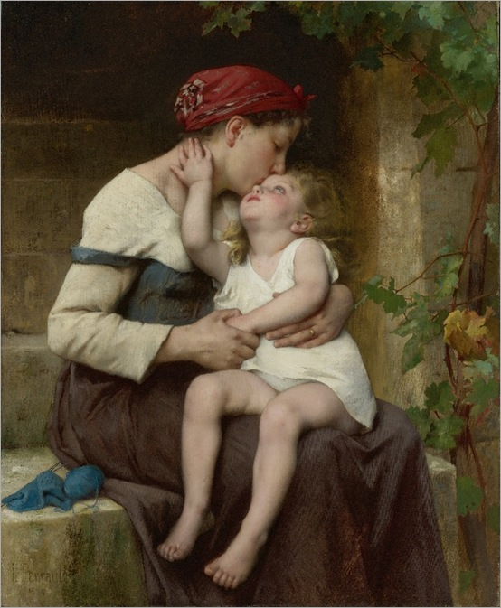 mother-with-child-Leon-Jean-Basile Perrault