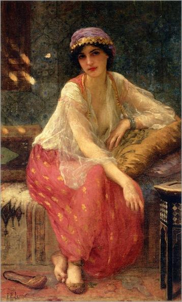 Odalisque - Charles Amable Lenoir