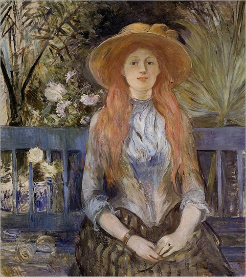 On a Bench -1889- Berthe Morisot (french painter)