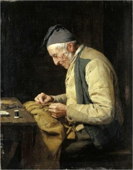 The Village Tailor, 1894 by Albert Anker. Swiss, (1831-1910)
