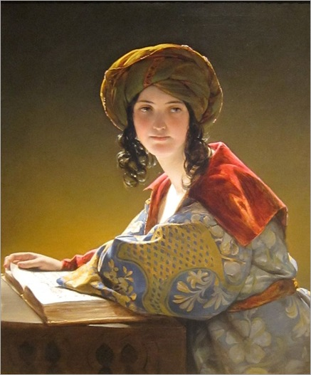 The Young Eastern Woman-by-Friedrich-von-Amerling-1838