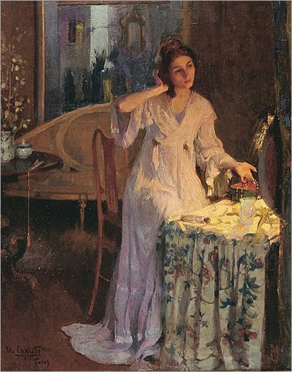 Ulisse Caputo (1872-1948) - Through the looking glass