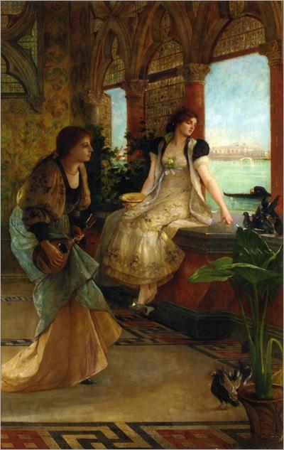 Venetian Beauties, Vicente Palmaroli y Gonzalez