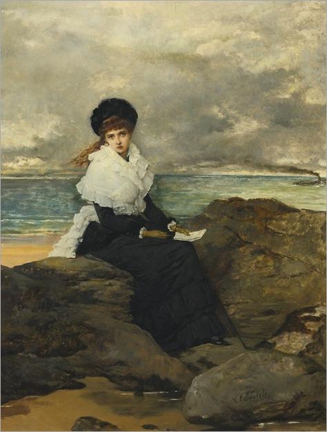 Vicente Palmaroli y González (1834 - 1896) - The letter