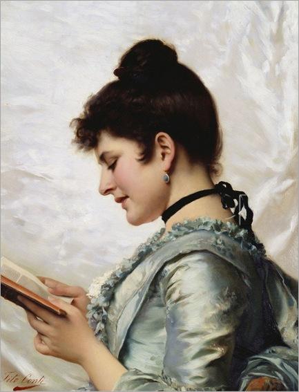 A good book - Tito Conti (Italian 1842-1924)