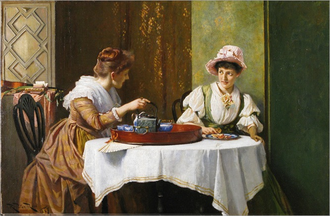 A Little Tea & Gossip - Robert Payton Reid (scottish, 1859-1945)