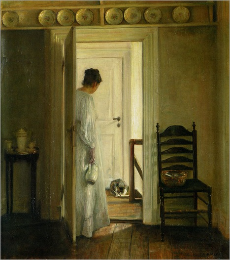 A Saucer of Milk-Carl Vilhelm Holsoe
