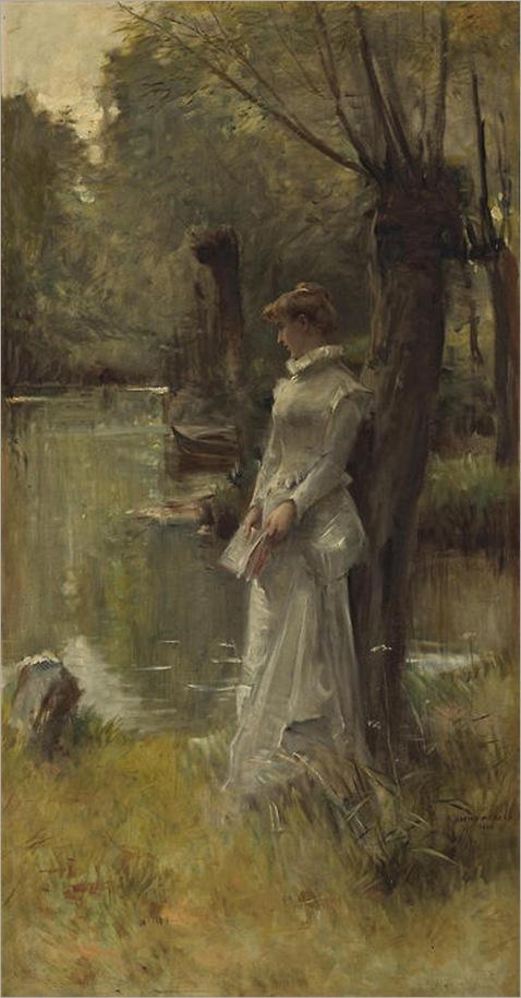 Adrien Moreau (French, 1843-1906) - L'Attente, 1903
